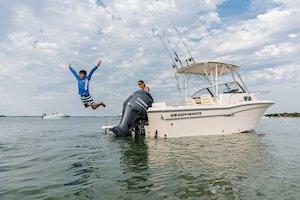 Grady-White Boats Adventure 208 20-foot Walkaround Cabin fishing boat family fun
