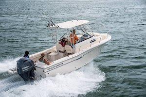 Grady-White Boats Adventure 208 20-foot Walkaround Cabin fishing boat running