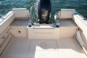 Grady-White Boats Adventure 208 20-foot Walkaround Cabin fishing boat aft cockpit seats