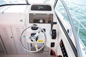 Grady-White Boats Adventure 208 20-foot Walkaround Cabin fishing boat helm station