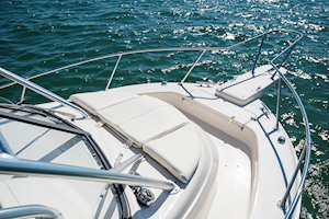 Grady-White Canyon 228 22-foot walkaround cabin fishing boat bow seating and bow rail