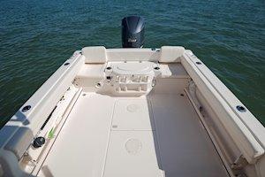 Grady-White Canyon 228 22-foot walkaround cabin fishing boat cockpit