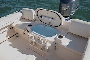 Grady-White Canyon 228 22-foot walkaround cabin fishing boat livewell