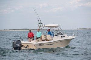 Grady-White Canyon 228 22-foot walkaround cabin fishing boat fishing