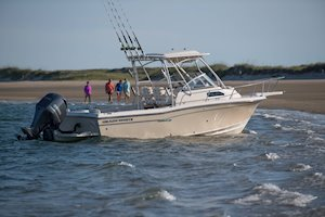 Grady-White Canyon 228 22-foot walkaround cabin fishing boat starboard side