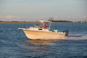 Grady-White Canyon 228 22-foot wakaround cabin fishing boat running