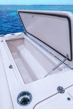 Grady-White Freedom 232 23-foot walkaround cabin fishing boat aft fish box