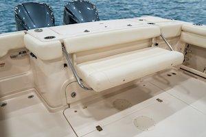 Grady-White Marlin 300 30-foot walkaround cabin boat aft bench seat