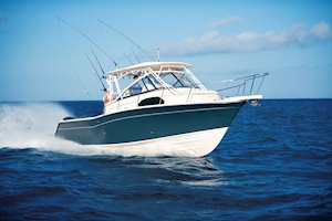 Grady-White Marlin 300 30-foot walkaround cabin boat running