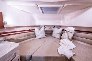 Grady-White Marlin 300 30-foot walkaround cabin boat interior forward berth