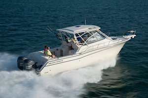 Grady-White Boats Express 330 33-foot Express Cabin Boat running starboard side