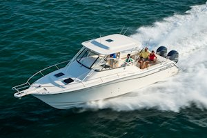 Grady-White Boats Express 330 33-foot Express Cabin Boat running port side