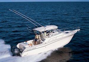 Grady-White Boats Express 330 33-foot Express Cabin Boat running