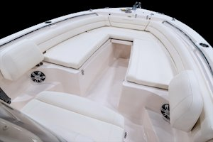 Grady-White Fisherman 236 23-foot center console bow seating