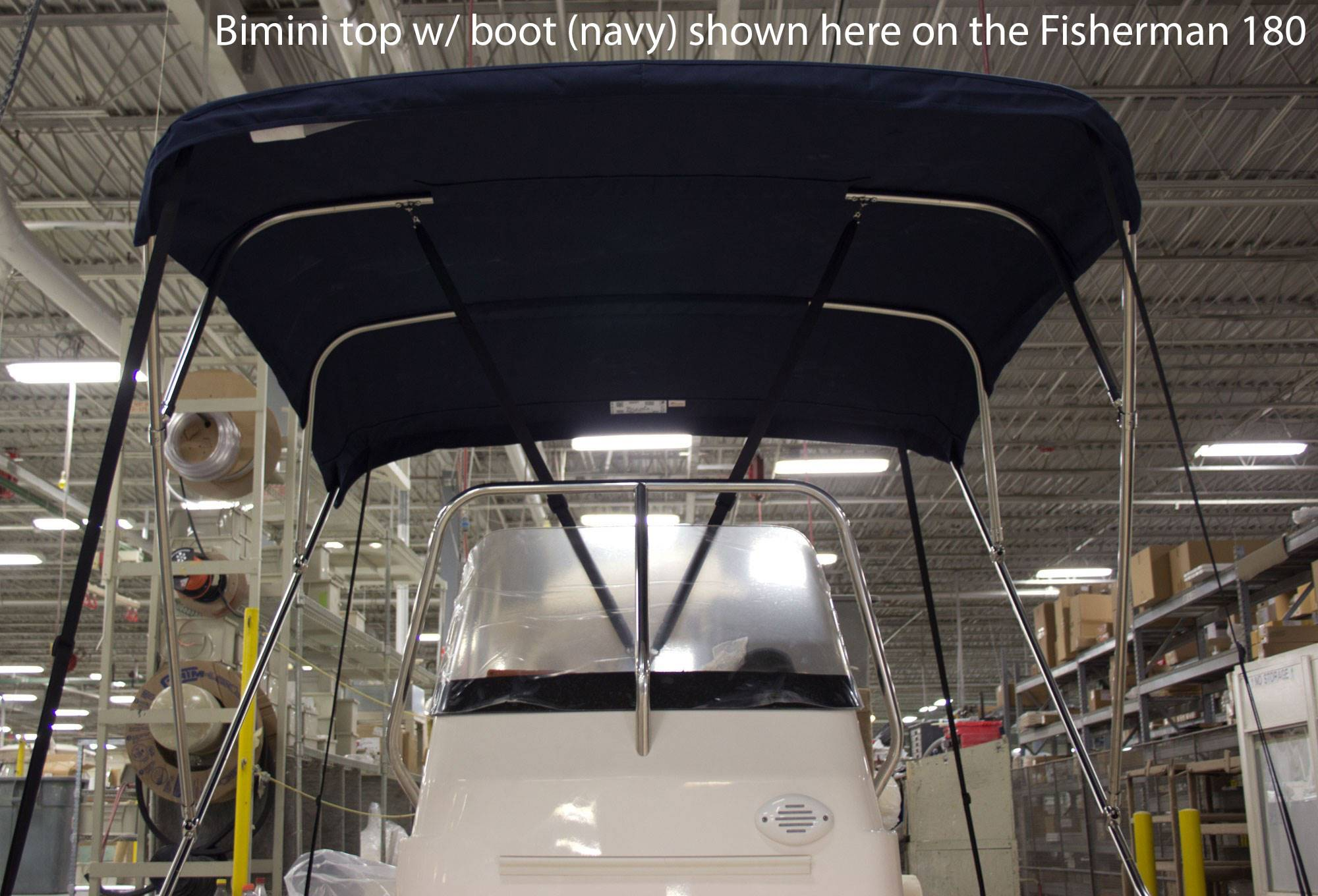 Fisherman 216 with Bimini Top