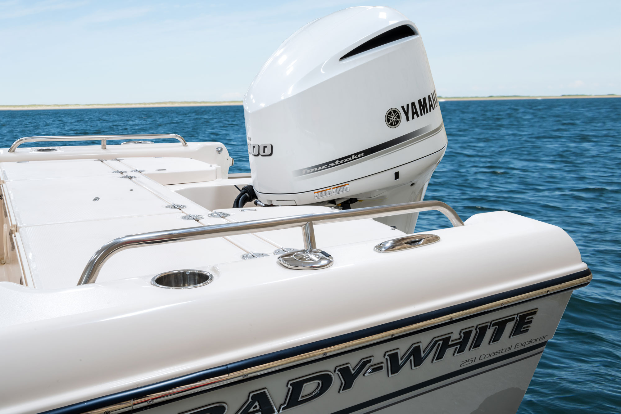 Grady-White 251 CE, 25-foot coastal explorer engine Yamaha factory-painted engines(s), pearlescent white (300 HP only)