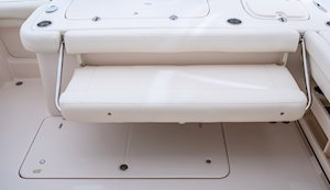 Grady-White Freedom 307 30-foot dual console aft bench seat