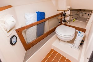 Grady-White Freedom 275 27-foot dual console boat port side console head