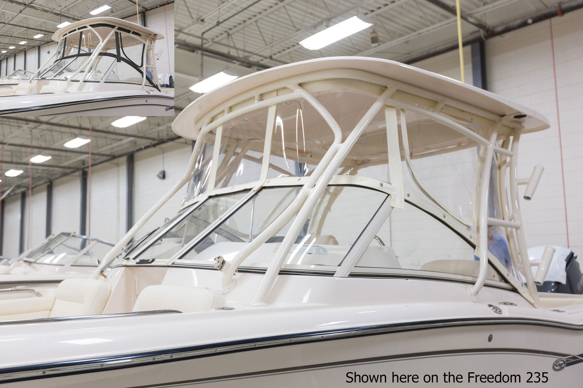 Grady-White Freedom 255 25-foot dual console ivory canvas