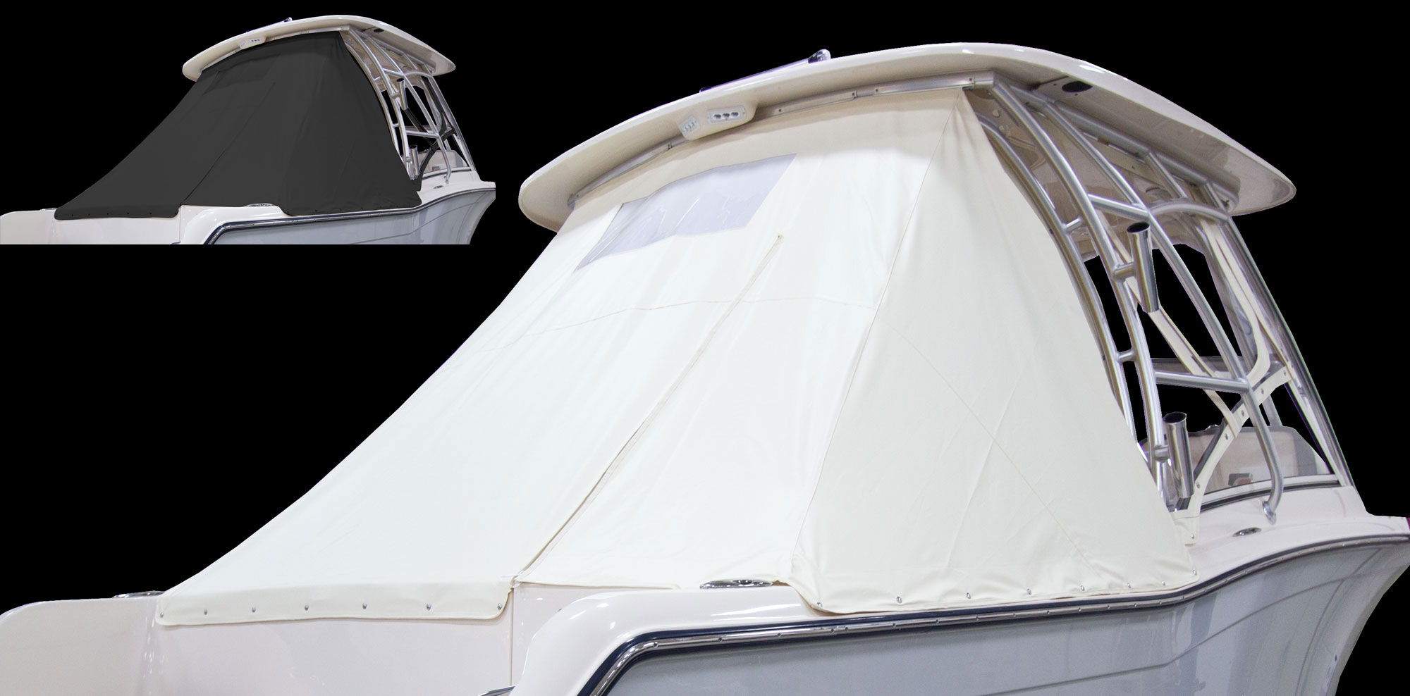 Grady-White Freedom 235 23-foot dual console aft curtain ivory