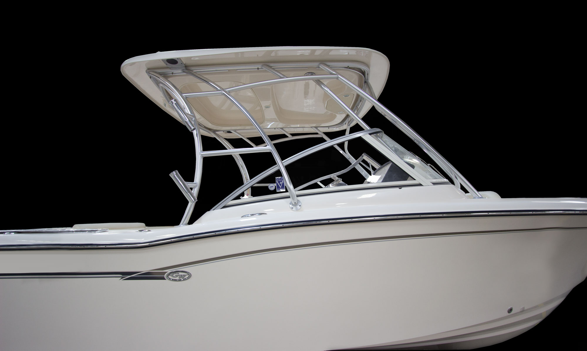 Grady-White Freedom 235 23-foot dual console hardtop frame