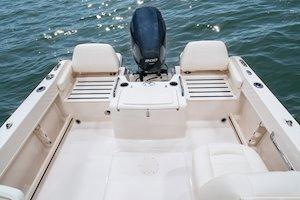Grady-White Freedom 215 21-foot dual console self-bailing cockpit