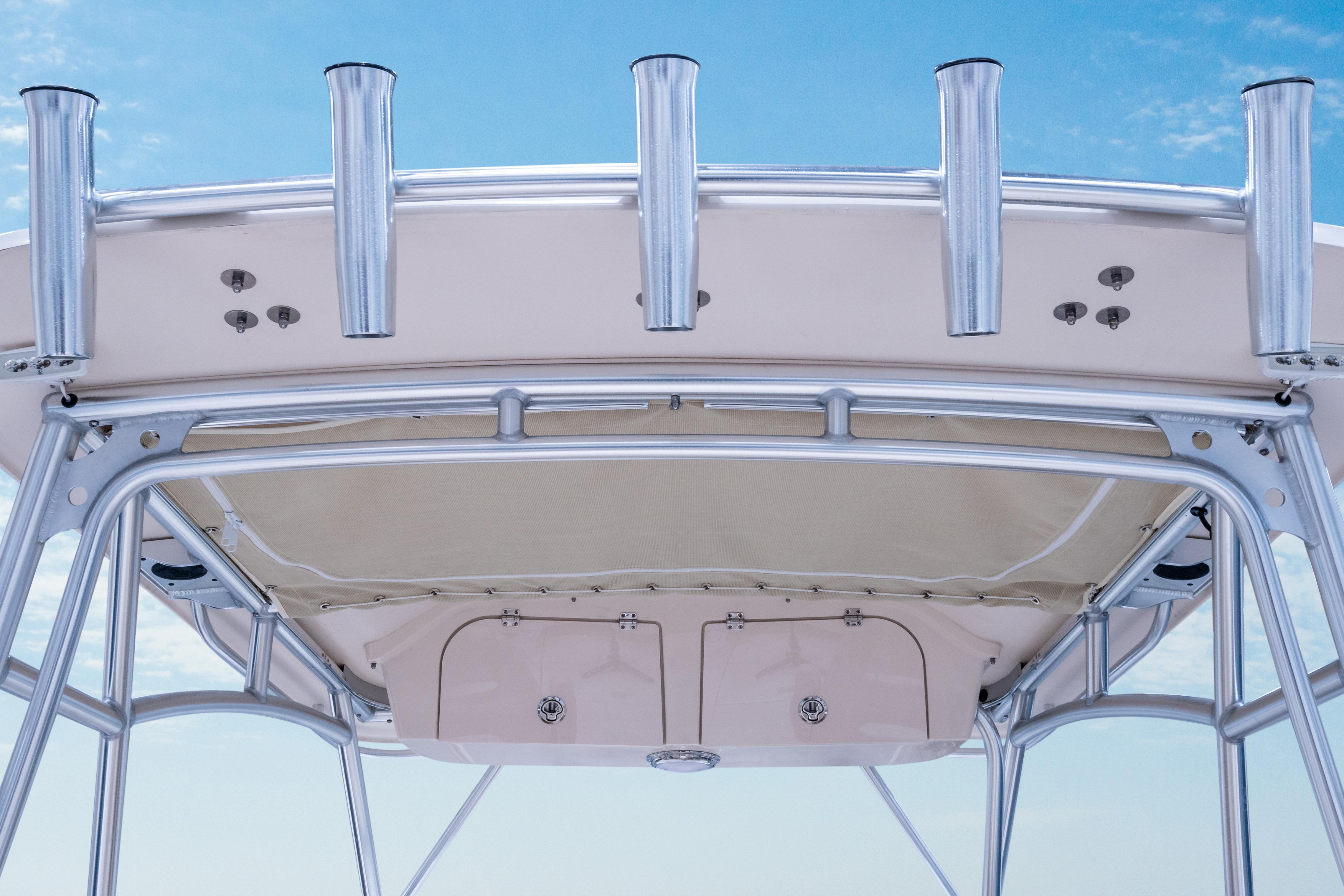 Gulfstream 232 Grady White 23 foot Walkaround Cabin Boat Hardtop Mounted Rod Holders