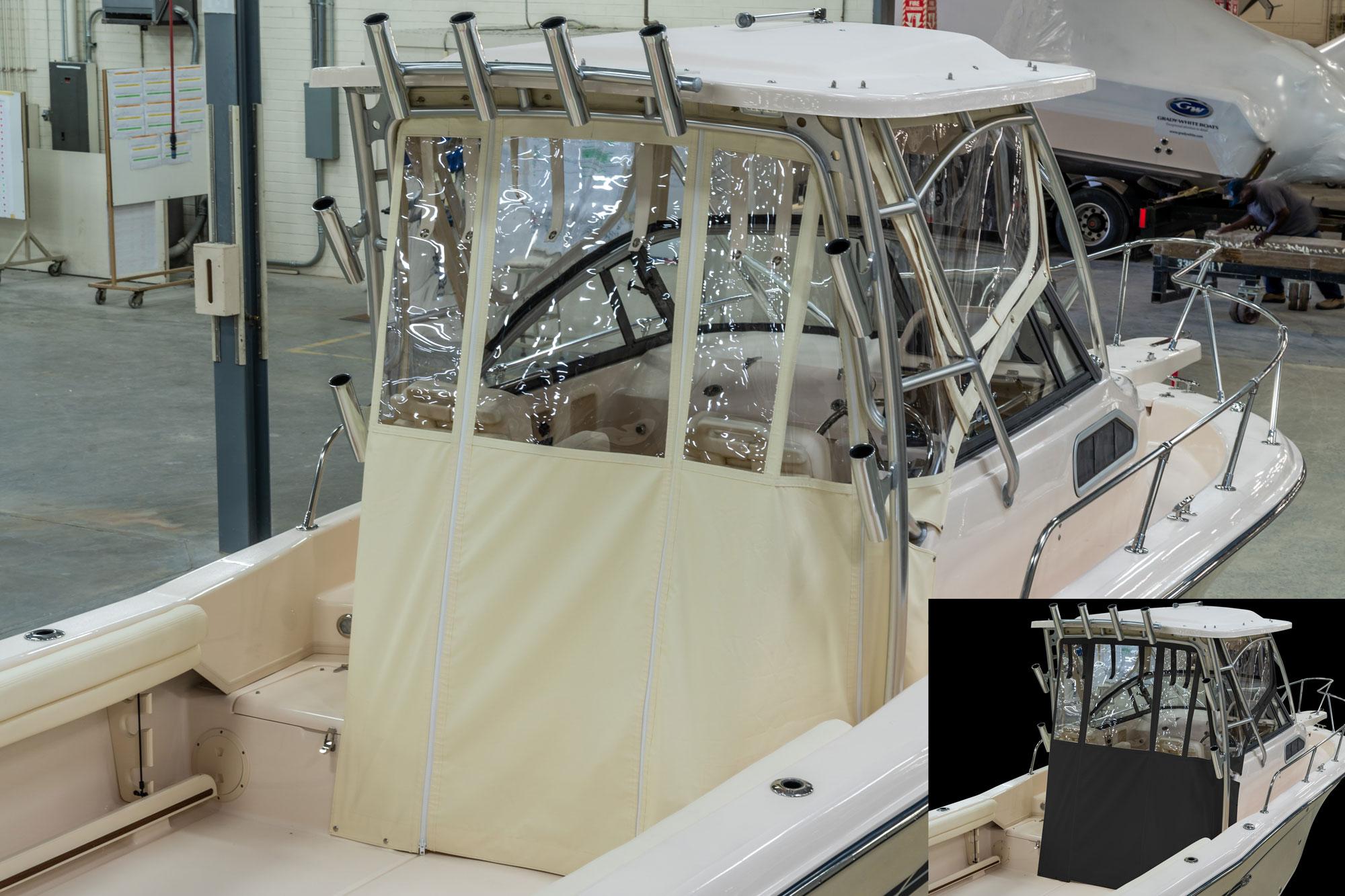Grady-White Seafarer 228 22 Walkaround Cabin Boat Drop Curtain