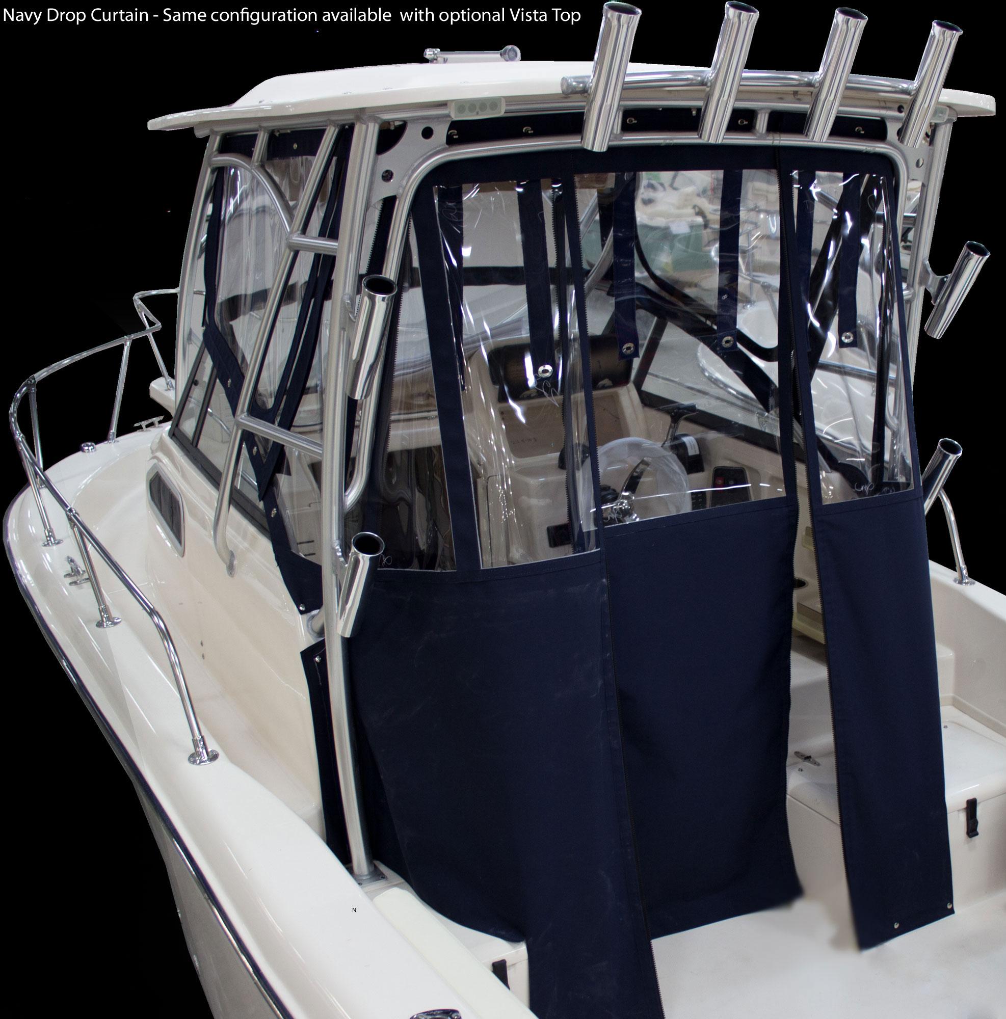 Adventure 208 Grady White 20 Walkaround Cabin Boat Drop Curtain