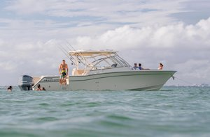 Grady-White Freedom 335 33-foot dual console fishing boat family fun
