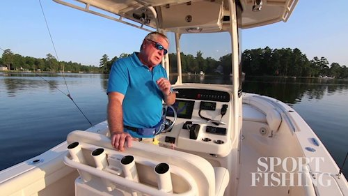 Sport Fishing's Randy Vance on the <em>Fisherman236</em>