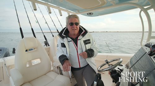Sport Fishing's Randy Vance on the <em>Canyon 336</em>