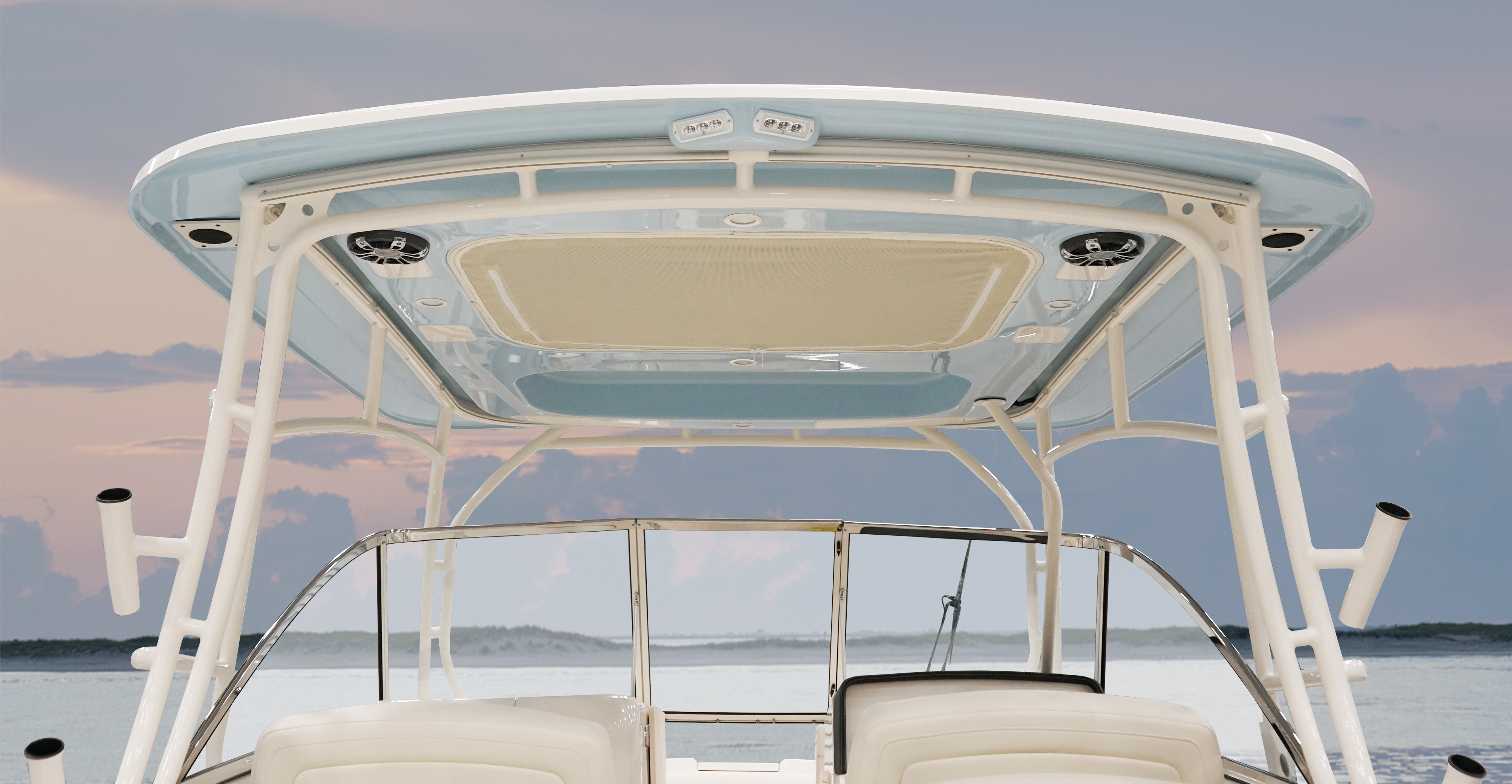 Grady-White Freedom 285 28-foot dual console hardtop color to match hull color