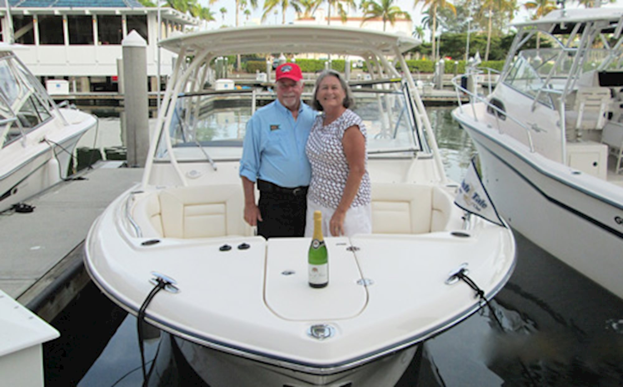Grady-White christened by new owners.
