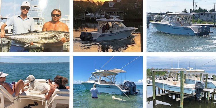 The Ballard's enjoy two Gradys - a dual console and a coastal explorer