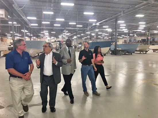 Congressman G.K. Butterfield visits Grady-White Boats.