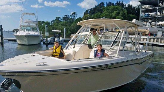 Joe Besnard's grandchildren love boating on the Grady.