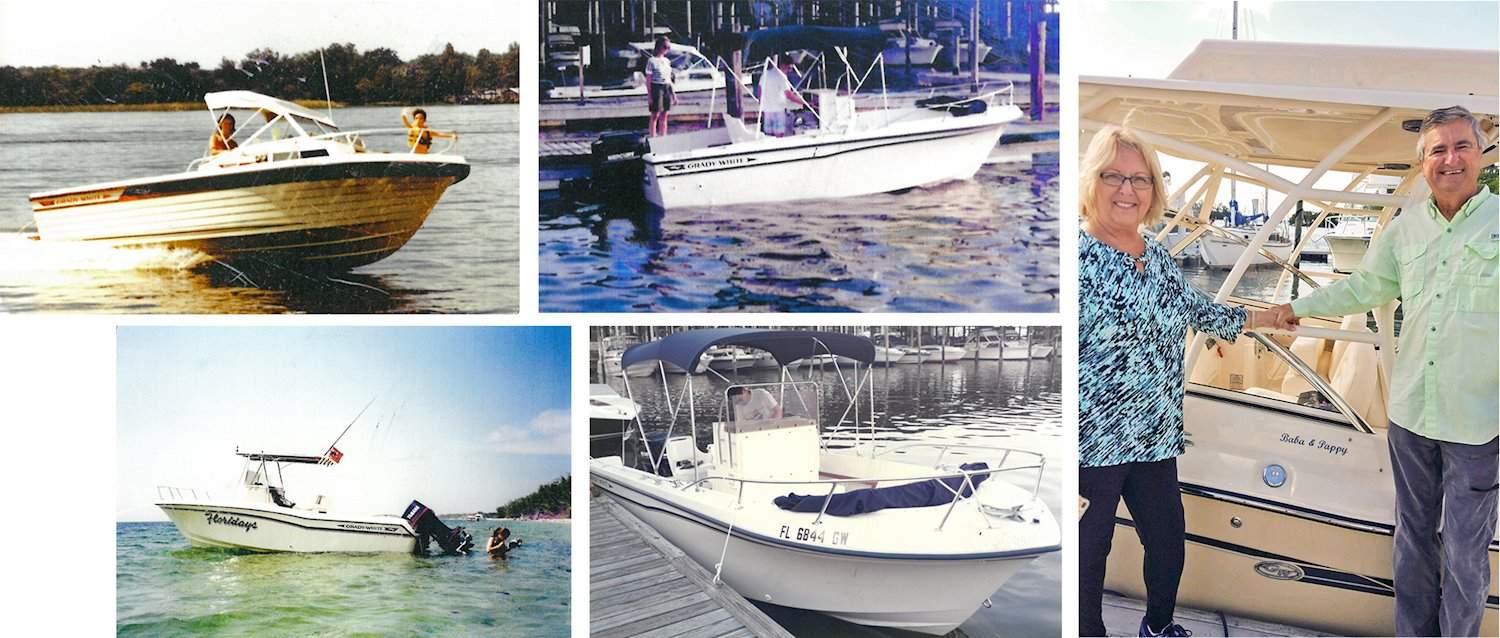 The Besnard family Grady-White boats through the years.