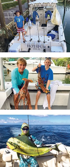 The Anderson family catches dolphin and lobster on their new Grady-White.
