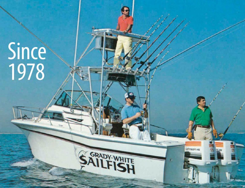 Grady-White achieved top rank among small sportfishing boats.