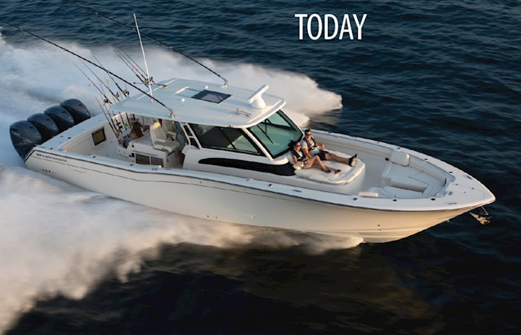 Grady-White introduced it's largest boat ever, a 45-foot center console, the Canyon 456, in 2018.