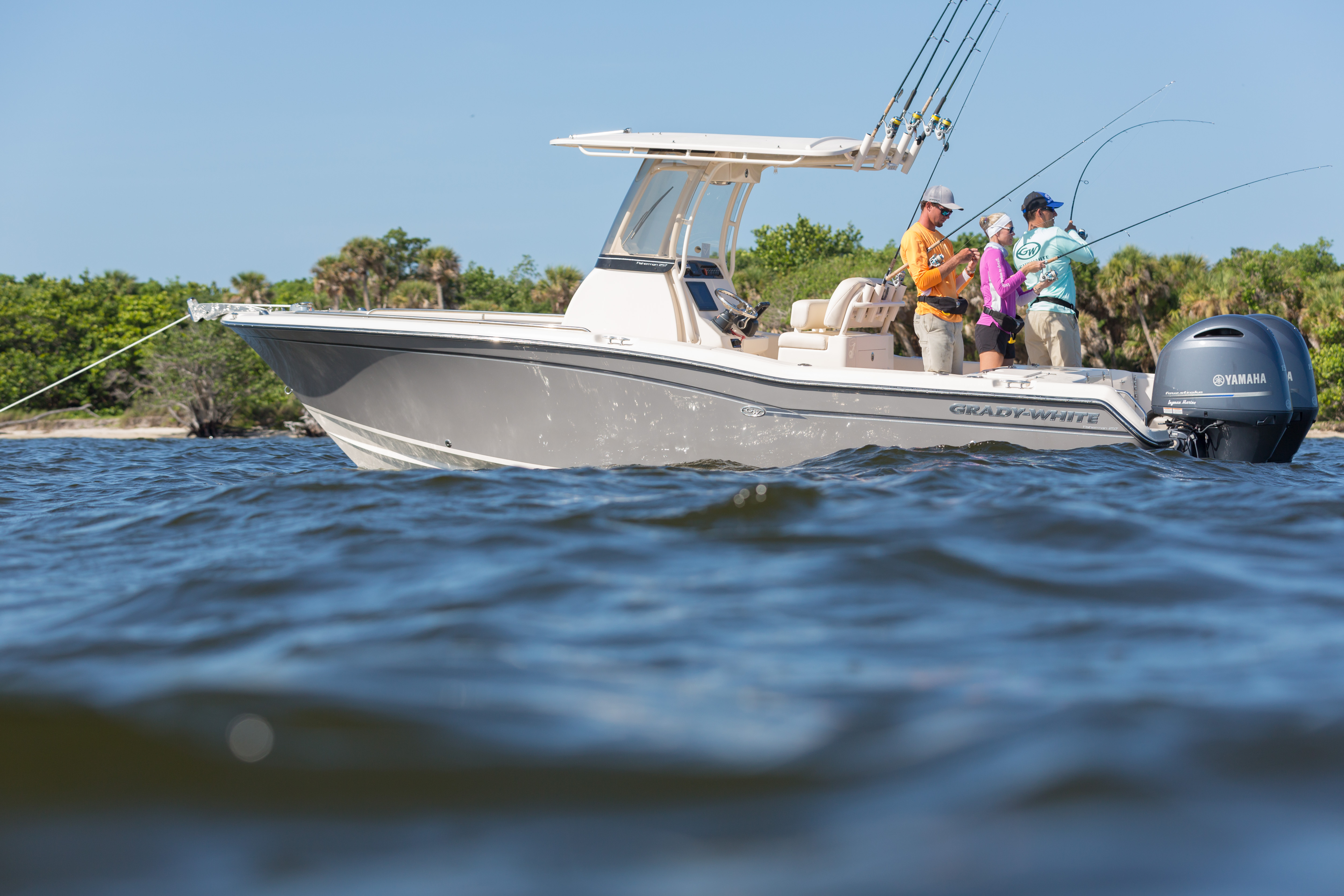 Grady-White's 25-foot center console, the Fisherman 257, is just right for inshore and offshore fishing.