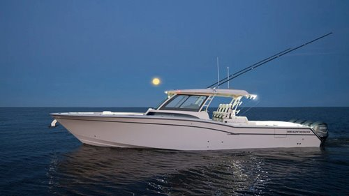 Grady-White's flagship, the 45-foot center console Canyon 456, is a beautiful luxurious boat built for fishing.