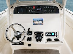 Grady-White Canyon 271 27-foot center console helm overall