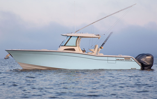 The redesigned Grady-White Canyon 336, a high performance beautiful boat that's safe and reliable.