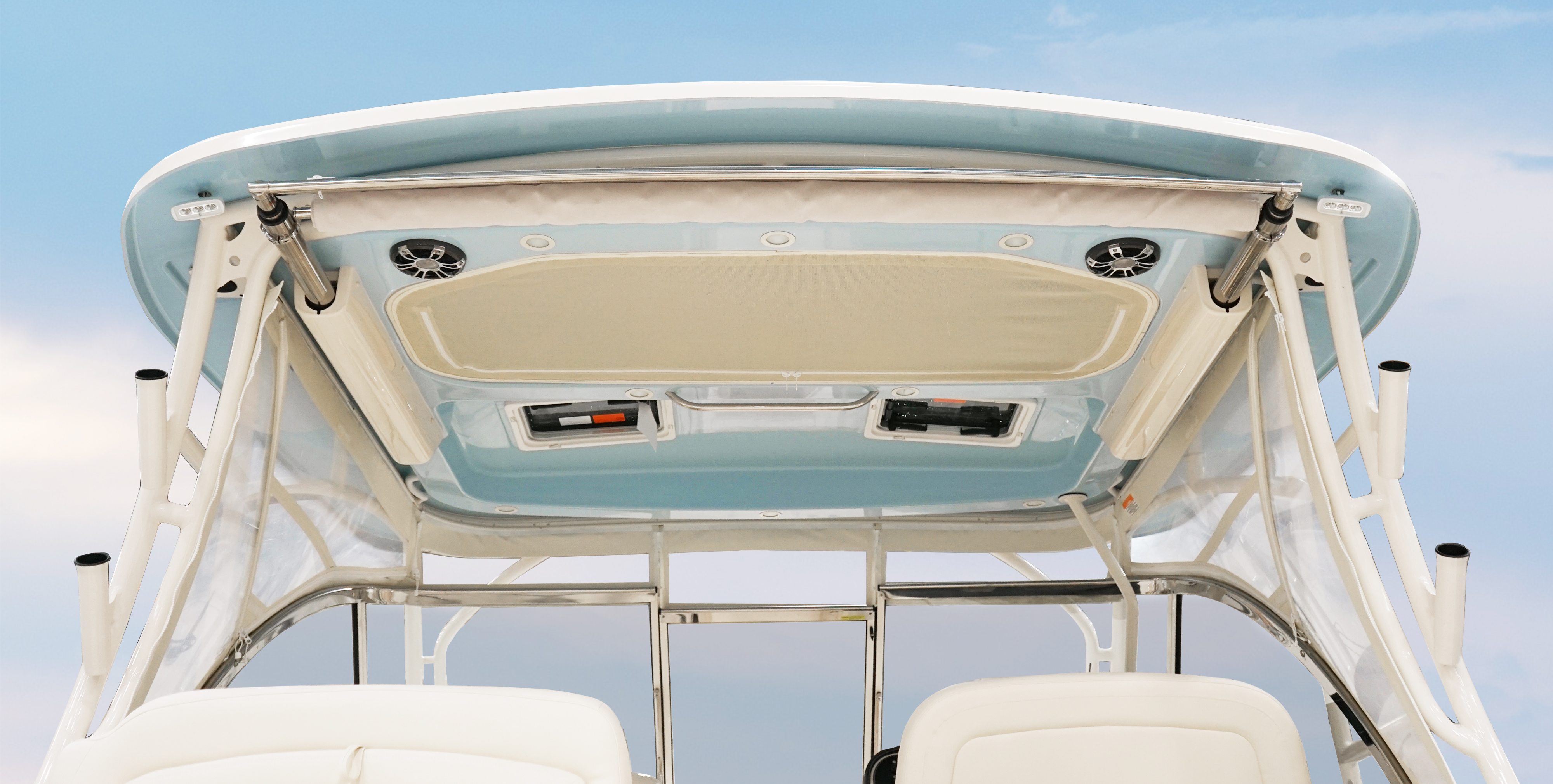 Grady-White Freedom 335 33-foot dual console hardtop color to match hull color