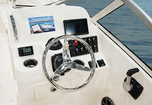 Grady-White Freedom 215 21-foot dual console helm