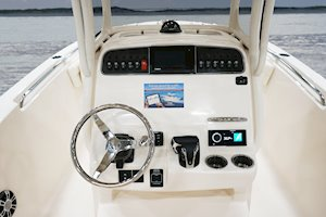Grady-White Fisherman 236 23-foot center console helm overall
