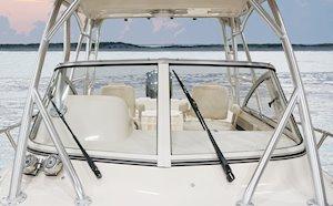 Grady-White Canyon 228 22-foot walkaround cabin fishing boat windshield