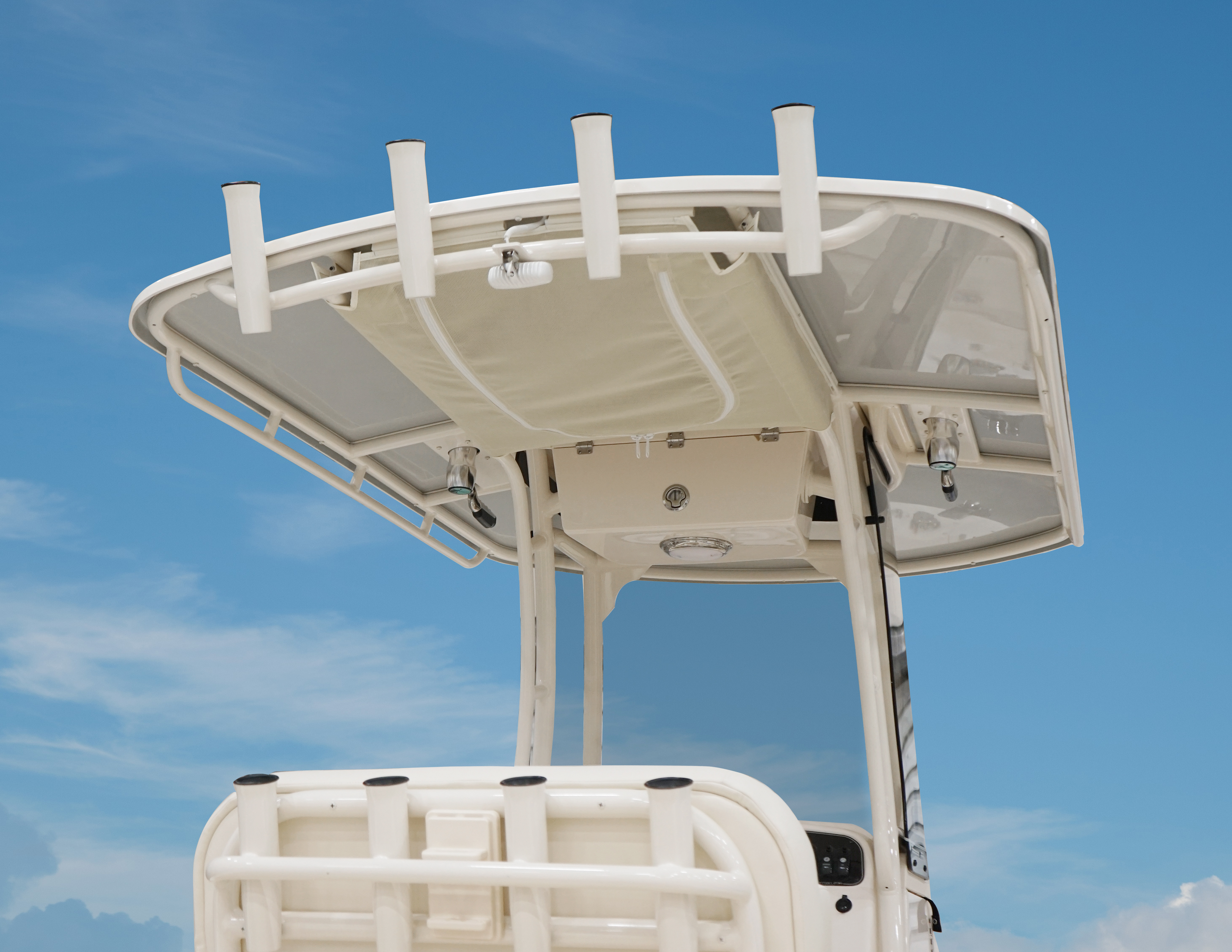 Grady White Fisherman 236, 23-foot center console boat with underside T-Top color match